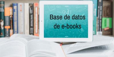 Base de datos de libros electrónicos